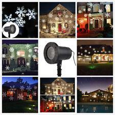 Moving Sparkling LED Snowflake Landscape Laser Projector Wall Light Xmas La