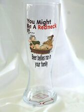 "Jeff Foxworthy ""You Might Be A Redneck If Beer Bellies"" 24 oz Pilsner Glass New"