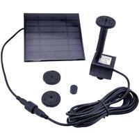 Solar Water Pump Power Panel Kit Fountain Pool Garden Pond Submersible Bla UKD