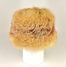 Vintage Genuine Red Fox Fur Russian Boyarka Style Winter Hat Size 6 7/8 RARE