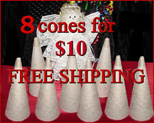 *FREE SHIP* NEW Cardboard Cones ~ Crafts, Yarns 8 @ $10 *Silver Needle Winder*