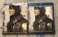 Justin Bieber: Never Say Never (Blu-ray +DVD, 2011) + Slip Cover!