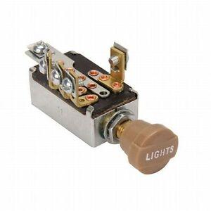 "Universal Headlight Switch with Hi/Low Beam, 3/8"" Mounting Hole Hot Rod rat"