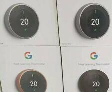 Google Nest thermostat 3rd gen UK brand new sealed includes heatlink
