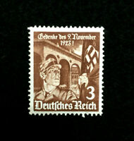 Authentic Germany WWII Mint MNH 3 Pf Storm Troops Soldier Stamp WWII Era