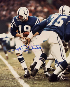 **Johnny Unitas Signed Autographed Photo Baltimore Colts #3 PSA/DNA**