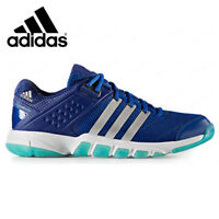 adidas Quckforce 7.1 Unisex Badminton Shoes Training Mystery Blue Racquet BY1819