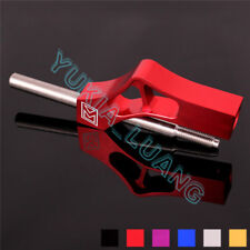 1x Red Car Auto Manual Gear Shifter Knob Stainless Steel Extender Universal 35cm