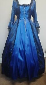 """Blue Georgian style costume.  38"""" bust.  Good for panto or period plays & shows"""