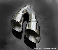 """Truck Pickup Exhaust Muffler Tip Dual 4"""" Round 3"""" ID 16"""" L Side Exit Corsa Style"""