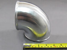 "4"" Cast Aluminum 90 Degree Elbow Pipe Tube Turbo intercooler Polished"