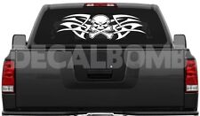 "#004 TRIBAL SKULL & CROSSBONES vinyl decal sticker jeep rzr diesel turbo 35""x10"""