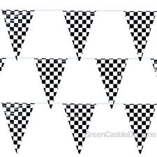 Checkered Flags Pennant Banner 100 ft Nascar Racing Party Supplies Decorations