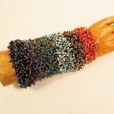 6PC Handmade Beaded Stretch MultiColor Fashion Bracelets WHOLESALE LOT 6 Colors