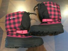 Women's Girls Columbia Removable Wool Lined Snow Boots Size 5