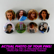 """HEATHERS - 1.5"""" PINS / BUTTONS (poster art vintage shirt winona ryder veronica)"""