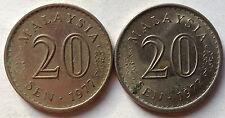 Parliament Series 20 sen coin 1977 2 pcs
