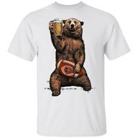 Chicago Bears T-Shirt Beer Bear Men's Tee Shirt Short Sleeve S-5XL