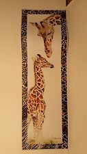 2 Posters, ZEBRAS and GIRAFFES, Mother and Baby, Safari, Paula Fitzpatrick