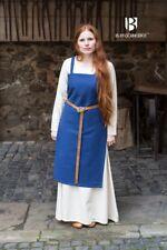 Medieval Strap Dress Overdress Dress Viking - Blue By Burgschneider