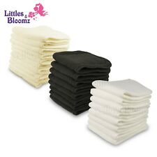 10 Pcs Reusable Washable Inserts Boosters Liners For Real Pocket Cloth Nappy