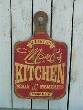 Primitive vintage style large wood cuttingboard KITCHEN sign country home decor