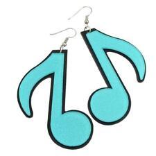 LASER CUT ACRYLIC EARRINGS of AQUA BLUE MUSICAL NOTES - FREE UK P&P.....CG1465