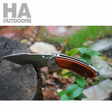 Folding Pocket knife Outdoor knives Camping Survival Hiking Hunting Gift AU