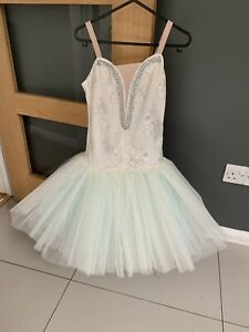 Classical Ballet tutu Cream And Mint Age 11-13 One London Dancewear
