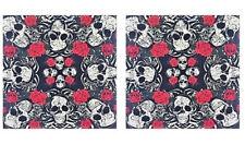 Roses and Skulls Bandana Set, Accessories for Men, Women, Dogs, Pirates, Bikers