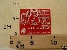 STICKER,DECAL VEILIG VERKEER NEDERLAND TRUCK,BUS,CYCLE 1979