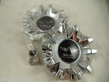 Avarus Chrome Custom Wheel Center Caps # MS-CAP-Z216 / Z215 / AV-3 (2 CAPS)