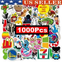 1000Pcs Skateboard Stickers bomb Vinyl Laptop Luggage Decals Dope Sticker Lot