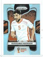 2018 Panini Prizm World Cup Soccer Oussama Haddadi (Tunisia) SILVER PRIZM #287