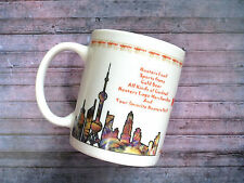 Rare Hooters Restaurant Coffee Mug From China Collectible Upside Down Skyline