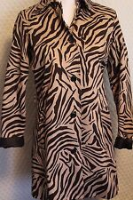 Ladies Jacket Chaps Small Leopard Print Long lightweight