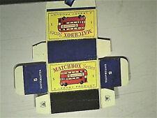 REPLIQUE BOITE AUTOBUS ROUTEMASTER DOUBLE DECK 1/150 : MATCHBOX 1959