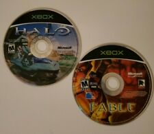 Lot Of (2) Xbox Games - Halo: Combat Evolved (2001) & Fable (2004)