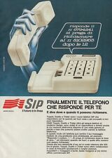 X3128 SIP il telefono che risponde per te - Pubblicità d'epoca - 1984 vintage ad