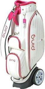 PING Golf Caddy Bag White/Pink Women Compatible length: 46 inches Cart Type