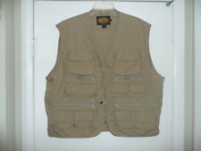 VINTAGE WOOLRICH CLASSIC SAFARI HUNTING PHOTOGRAPHERS POCKETS VEST TAN MENS XL