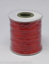3M Red Premium Korean Waxed Polyester Cord thread 0.5mm Dia(YC-H001-36)