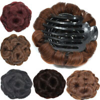 Wavy Curly Synthetic Hair Bun Cover Hairpiece Clip In Scrunchie Hair Extensions