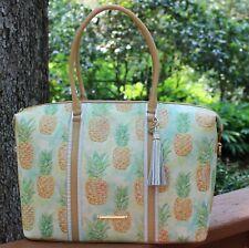 NWT Brahmin Duxbury Carryall  Pompano Leather Bag Pineapple $515