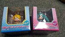 Hatsune Miku Vocaloid- Hatsune & Len Kagamine- Chibi Figures- Sega Prize- Import