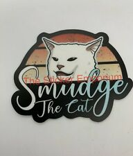 Smudge White Cat Meme Sticker ~ Water Bottle ~ Laptop ~ Tumbler Car Vinyl Decal