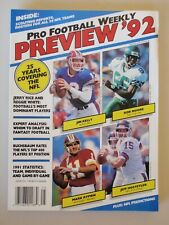 Vintage - PRO FOOTBALL WEEKLY PREVIEW 1992 MAGAZINE NFL