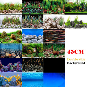 "Aquarium Fish Tank Background Double Side Poster 18""(45cm)*3ft/4ft/5ft/6ft"
