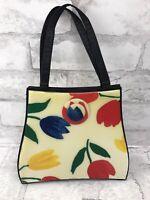 Vintage Angela Frascone Tulip Floral Resin Handbag Purse with Shoulder Strap