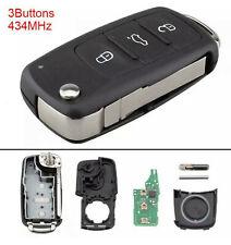 fits Vw Volkswagen Caddy Golf Transporter Touran Upgrade Remote Key 5K0837202AD.